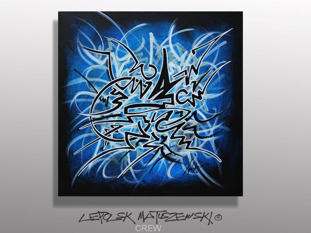 MK  Lepolsk Matuszewski CREW   street art calligraffiti graffiti abstrait