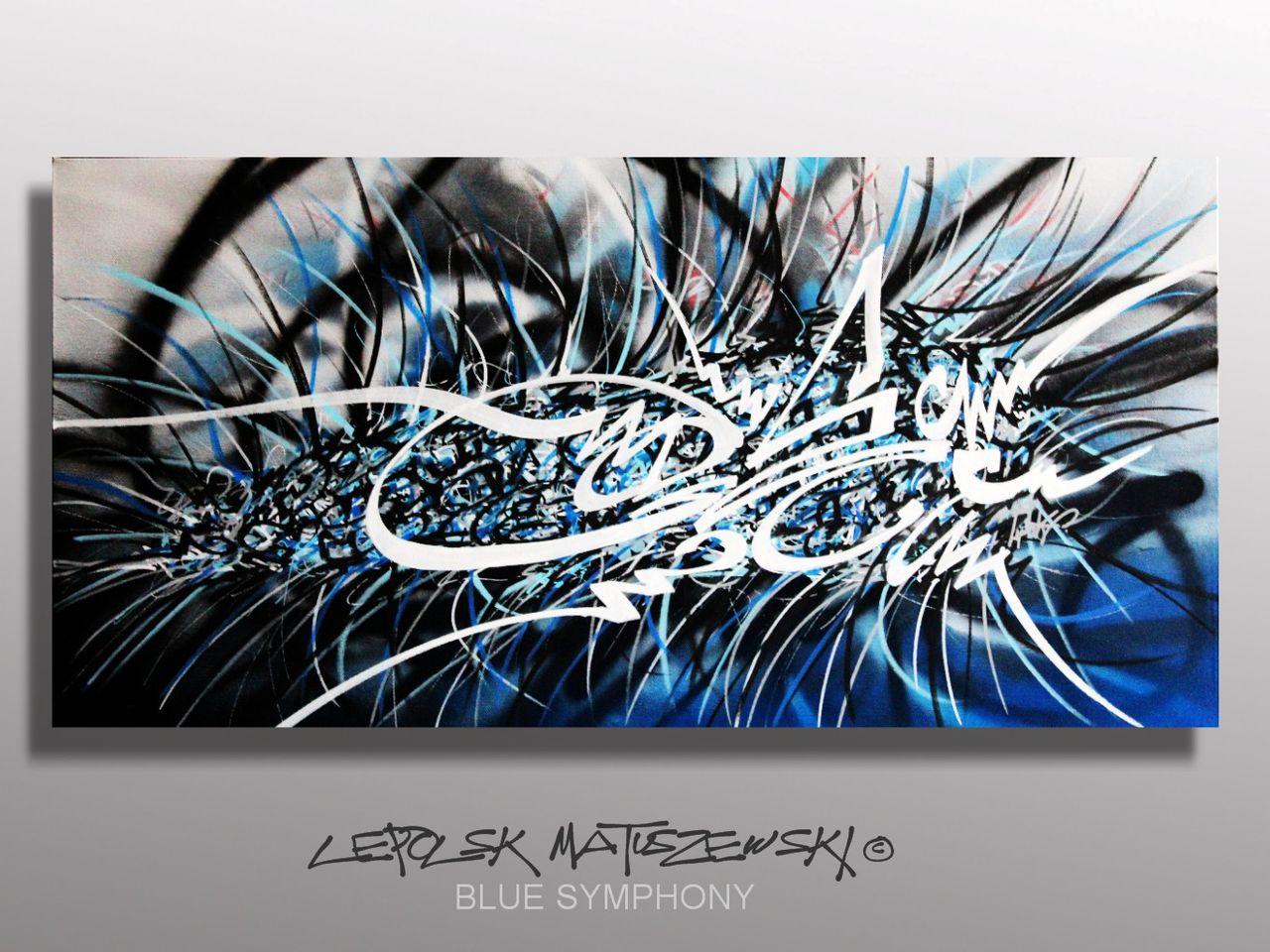 MK  Lepolsk Matuszewski DEEP BLUE SYMPHONY   street art calligraffiti graffiti abstrait