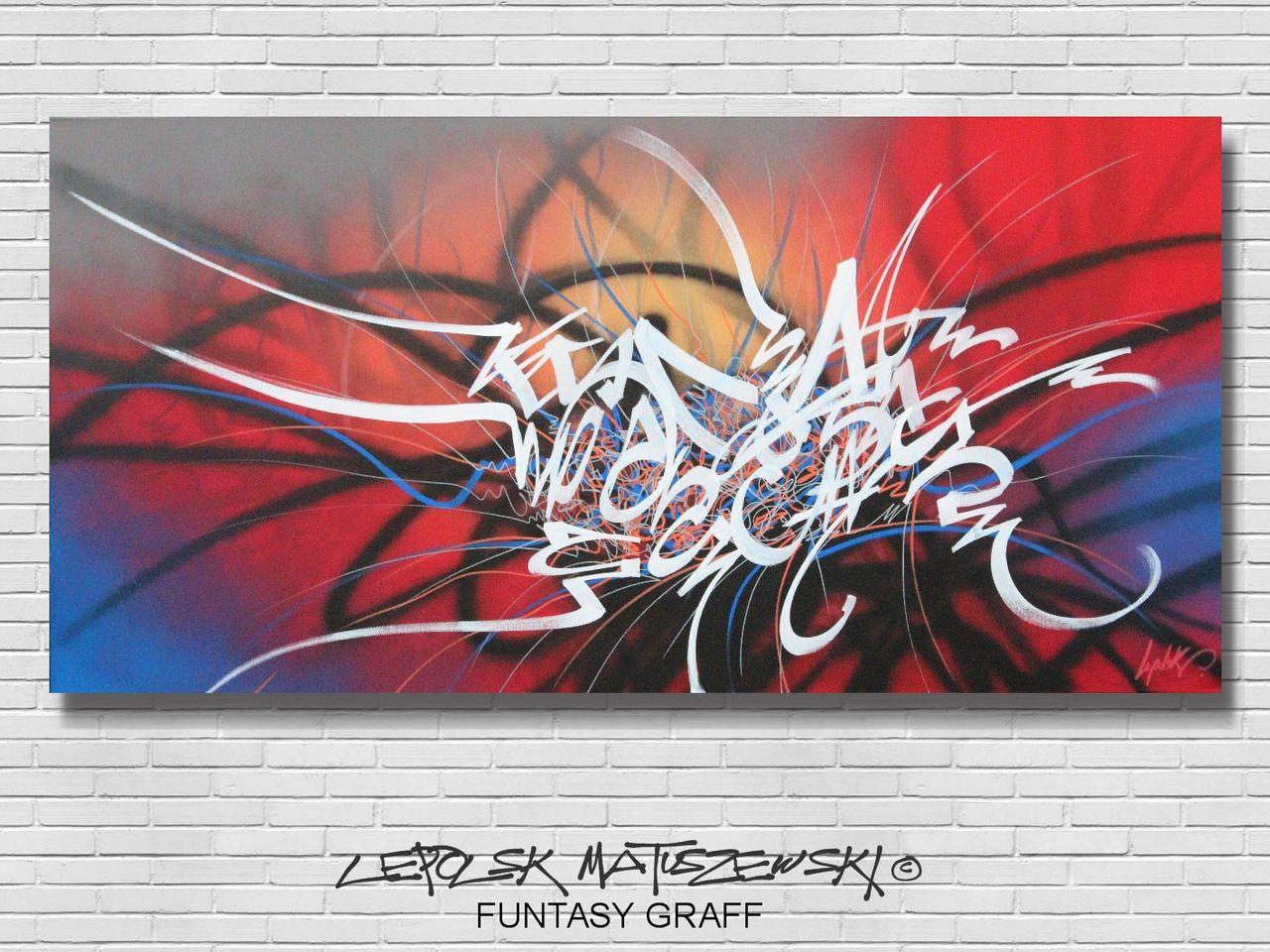 MK  Lepolsk Matuszewski FUNTASY GRAFF  Street art callifgraffiti graffiti expressionnisme abstrait