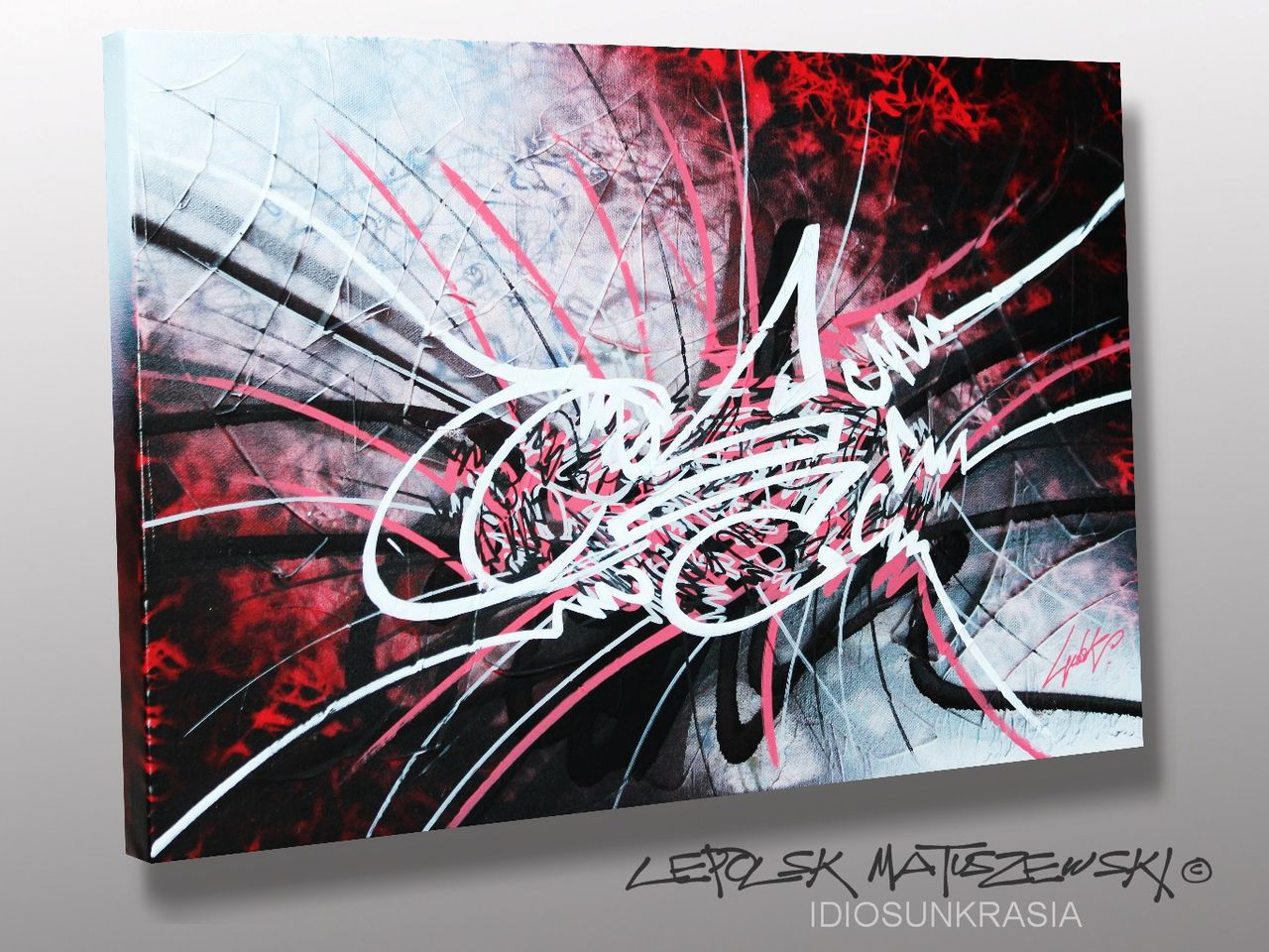 MK  Lepolsk Matuszewski IDIOSUNKRASIA   Calligraffiti abstraite