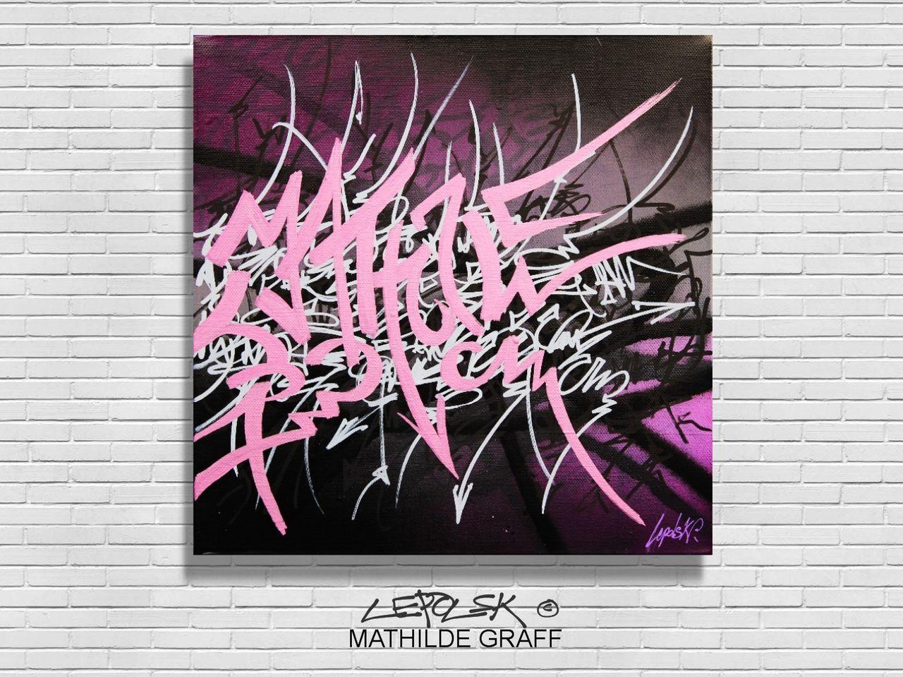 MK  Lepolsk Matuszewski MATHILDE GRAFF   Street art callifgraffiti expressionnisme abstrait
