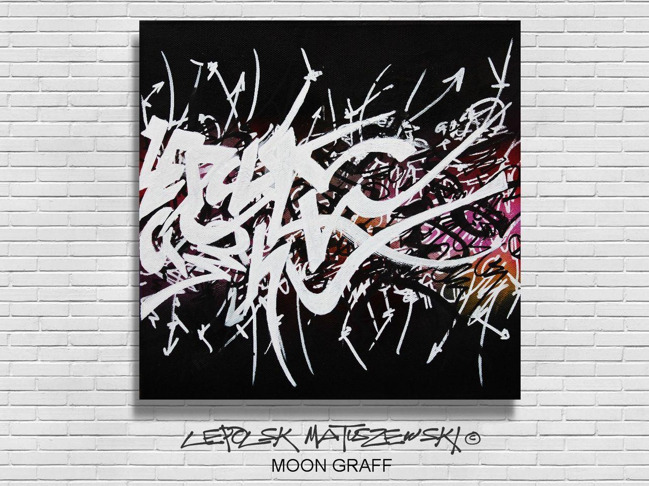 MK  Lepolsk Matuszewski MOON GRAFF street art calligraffiti graffiti abstrait