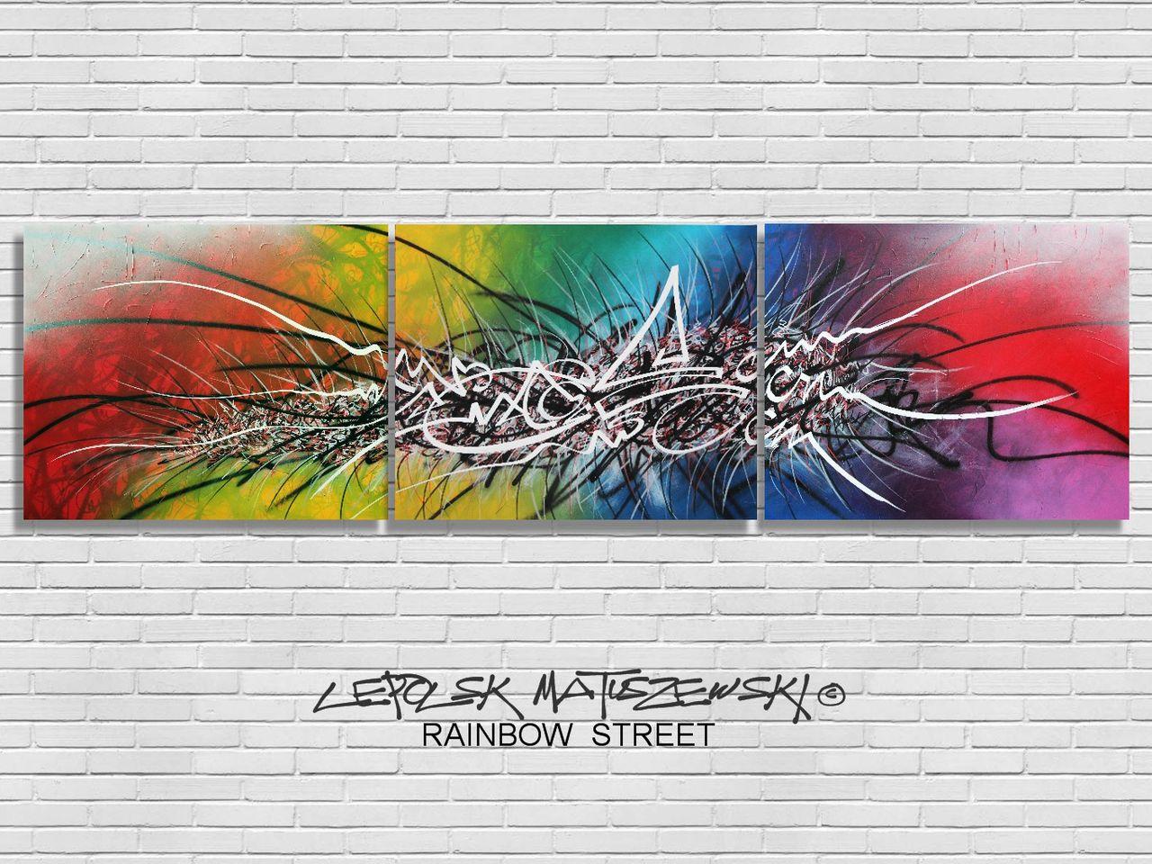 MK  Lepolsk Matuszewski RAINBOW STREET  street art calligraffiti graffiti abstrait