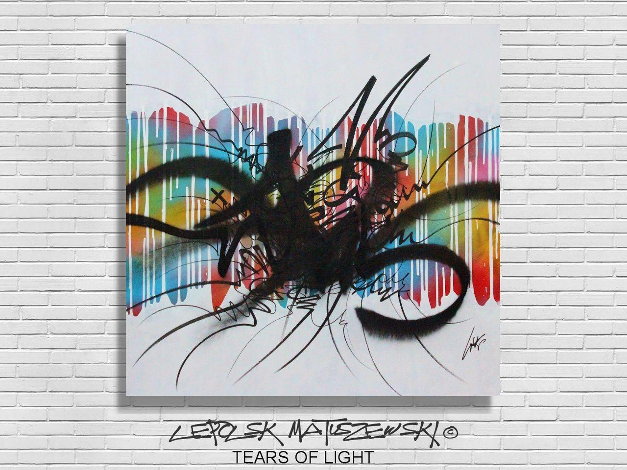 MK  Lepolsk Matuszewski TEARS OF LIGHT  by Lepolsk - calligraffiti abstract streetart 2015