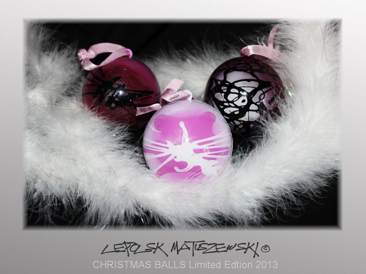 MK  Lepolsk Matuszewski PINK BALLS  Christmas Balls by Lepolsk Matuszewski Limited Edition ©2013