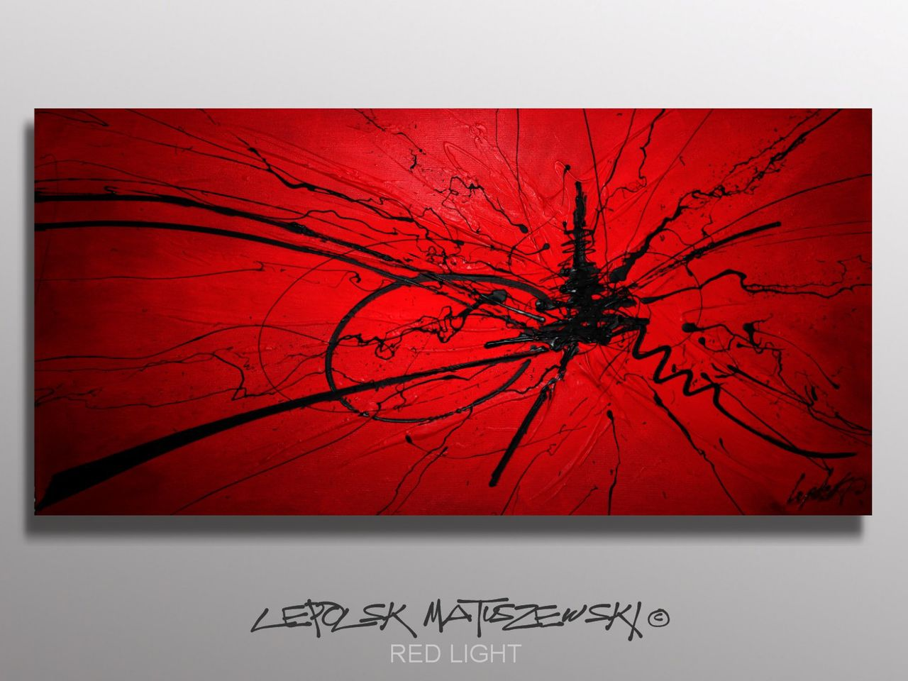 MK  Lepolsk Matuszewski RED LIGHT   Expressionnisme abstrait contemporain