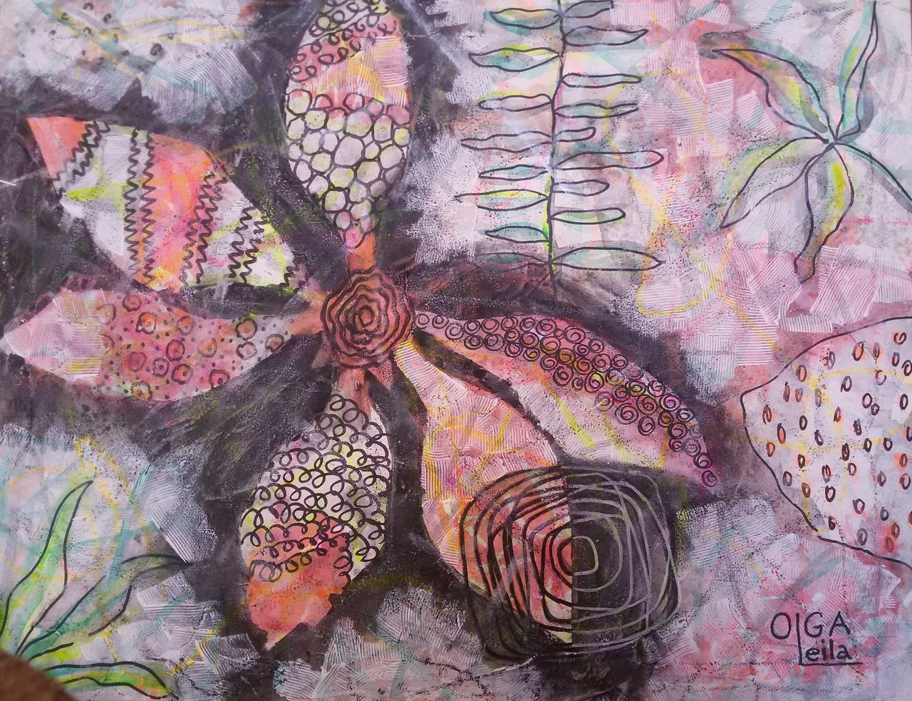 Olga  Leila La fleur imaginaire