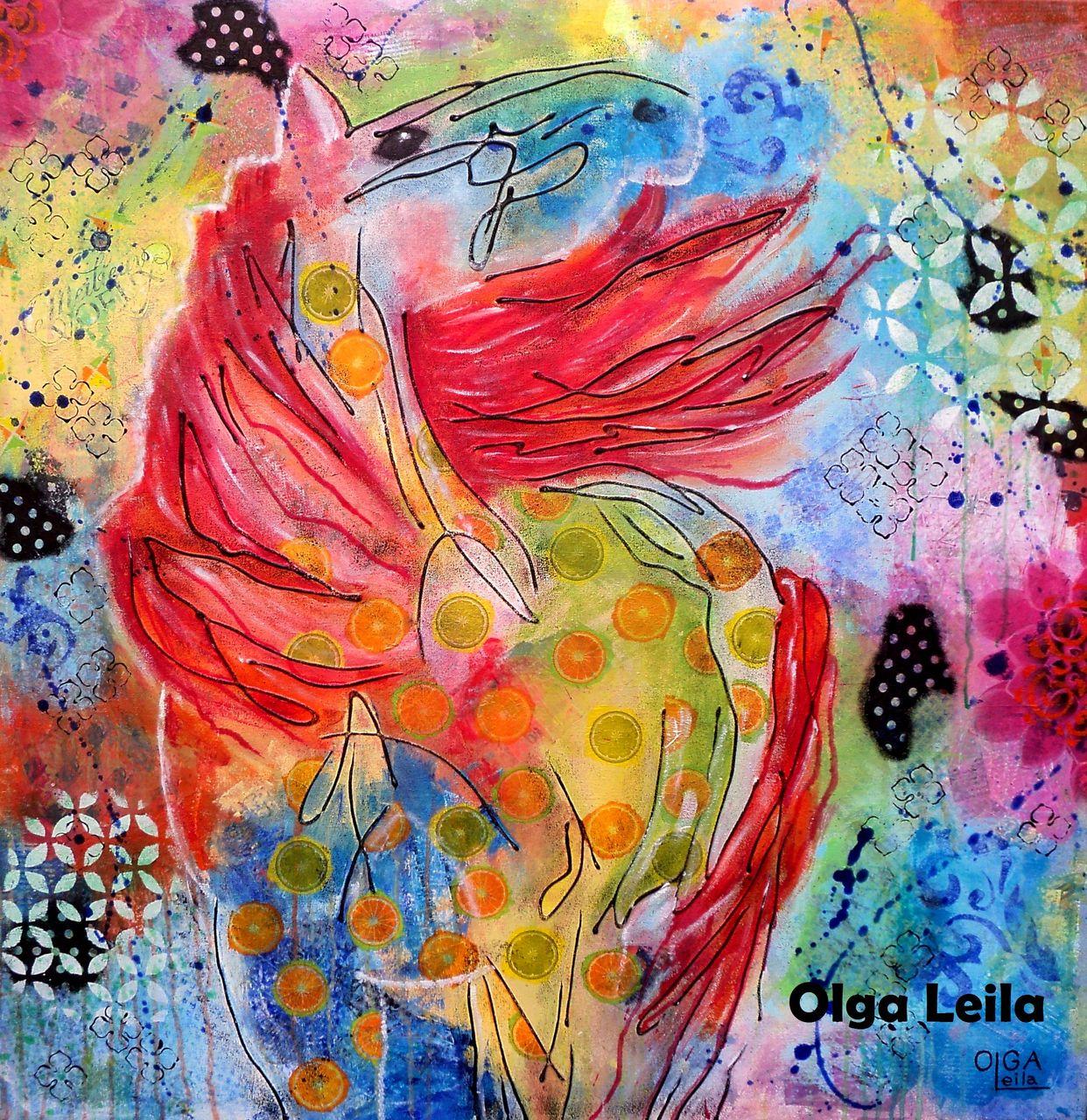 Olga  Leila Le cheval aux oranges