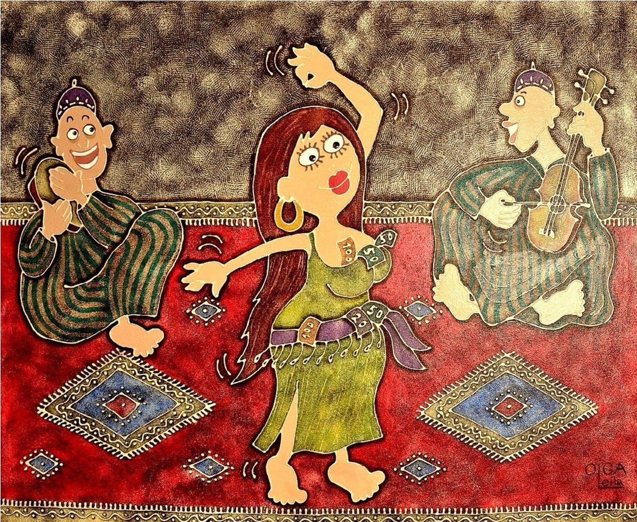 Olga  Leila Danseuse orientale