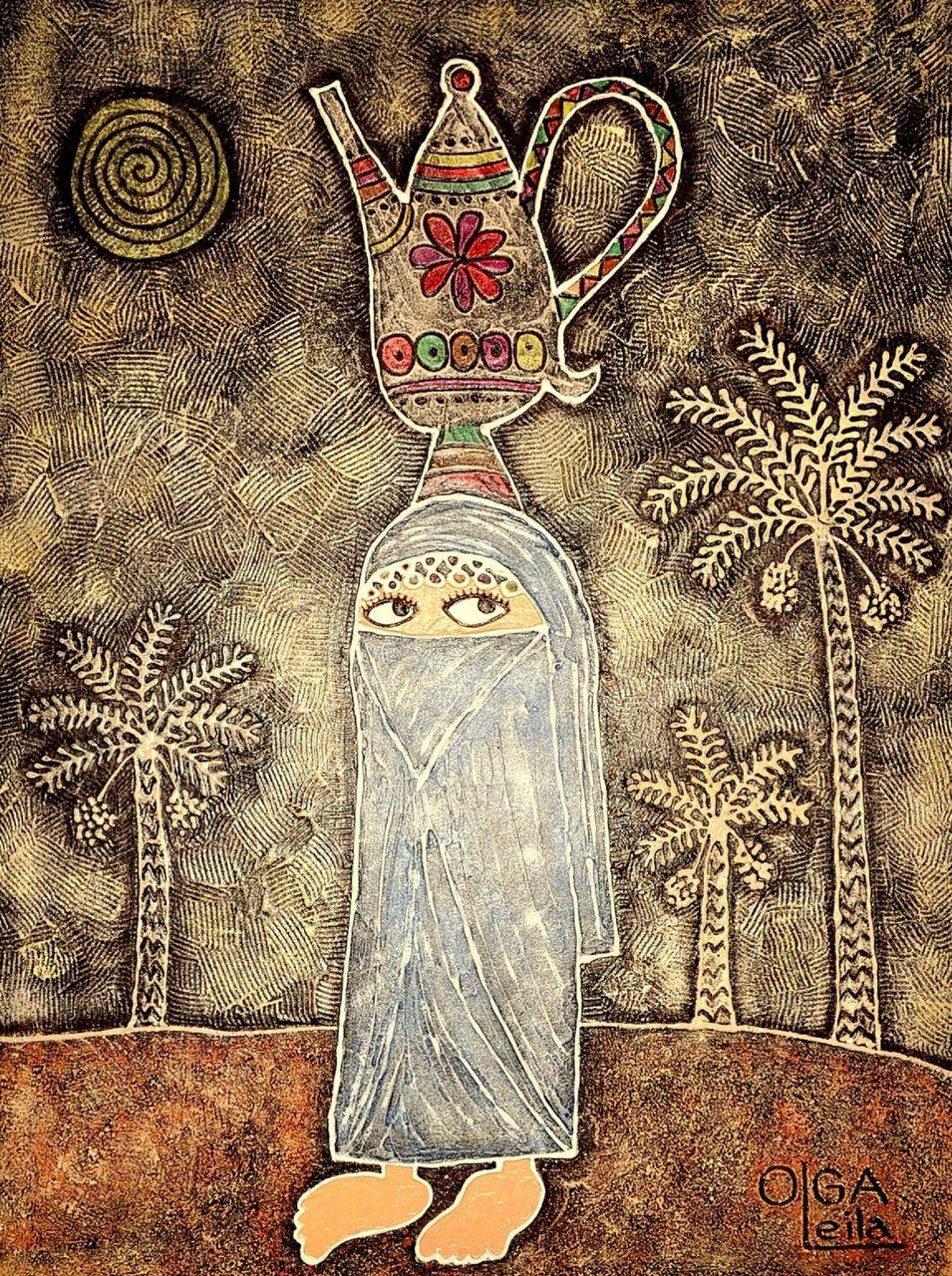 Olga  Leila Femme du désert