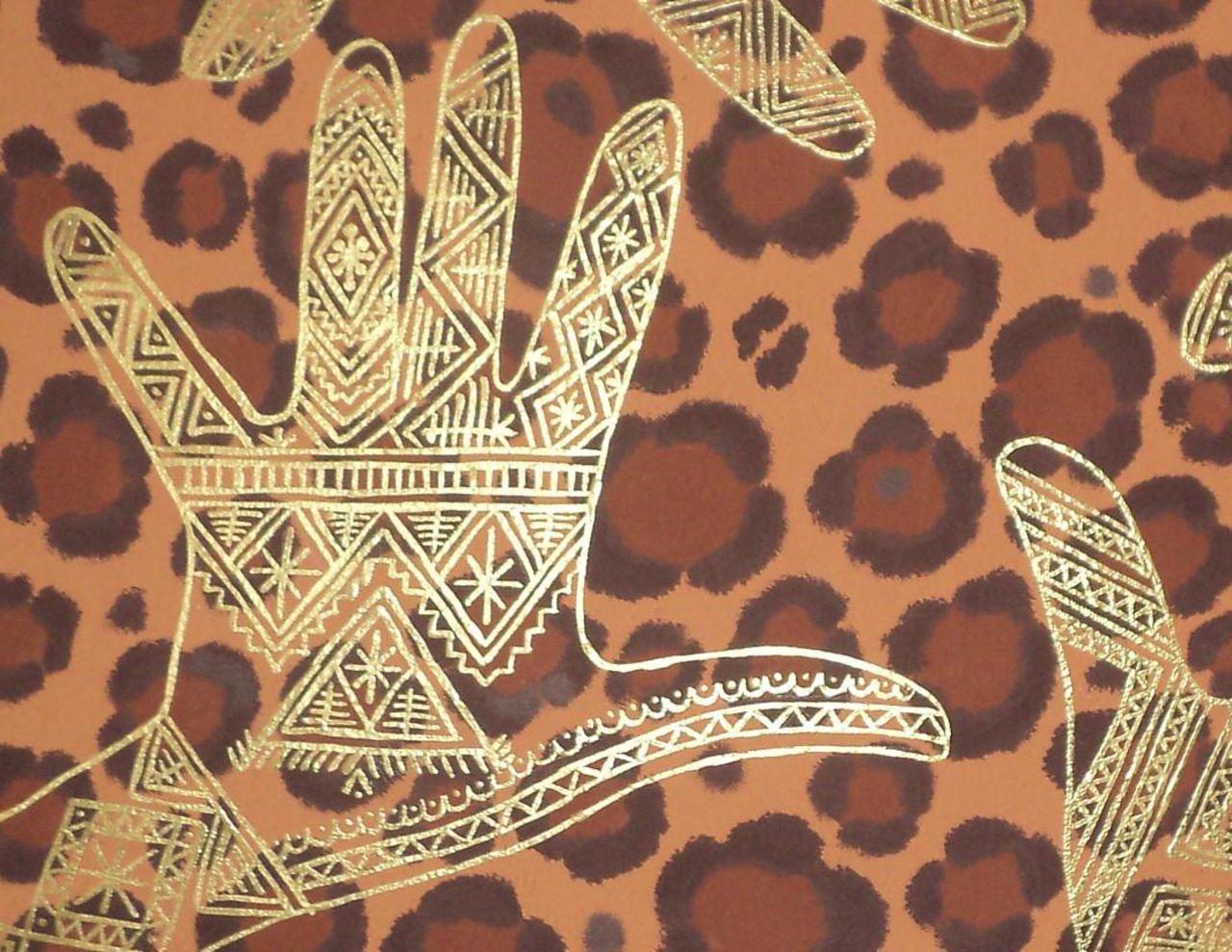 Olga  Leila Motifs en henné ( Tableau en detail )