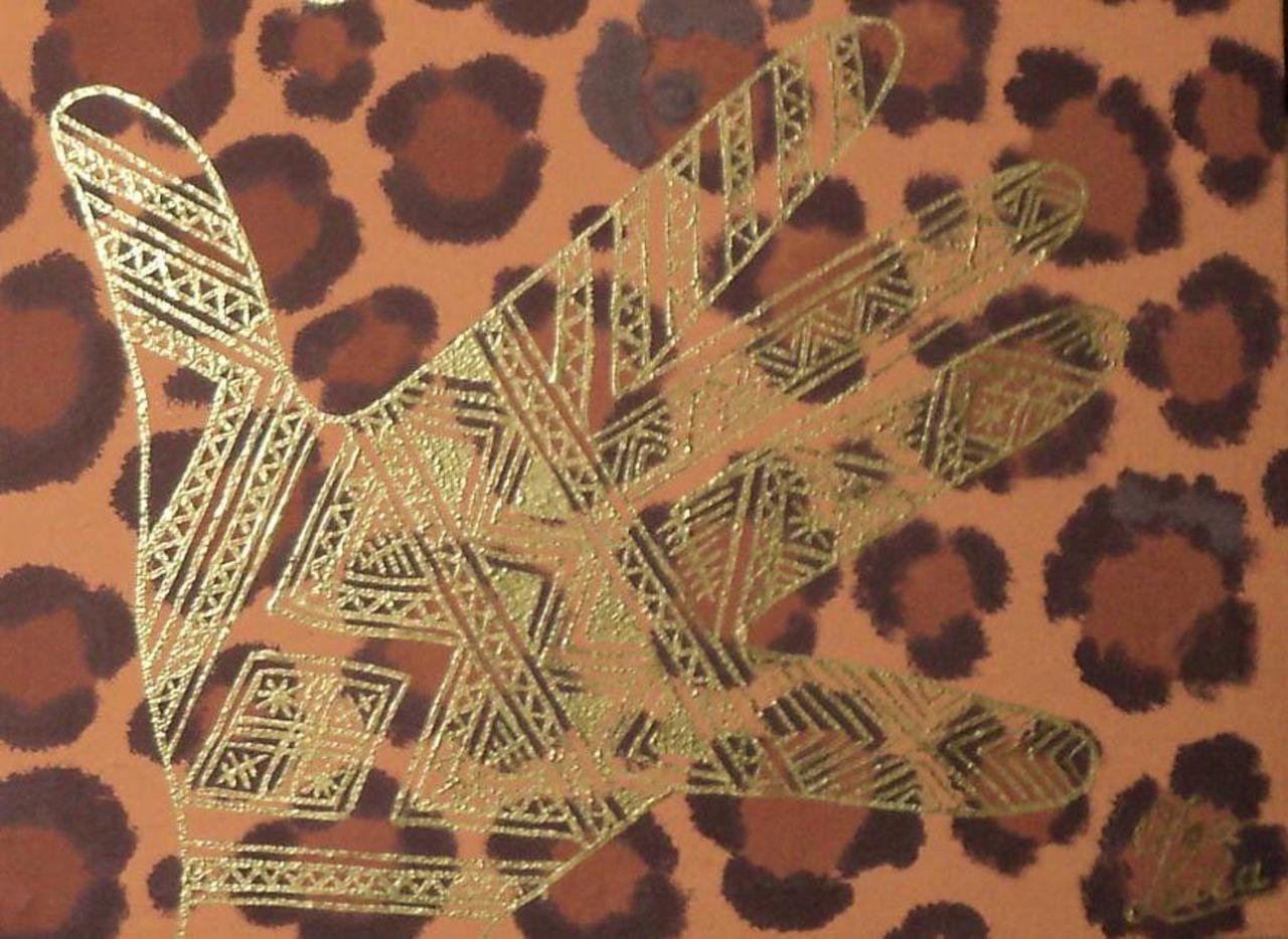 Olga  Leila Motifs en henné (Tableau en detail)