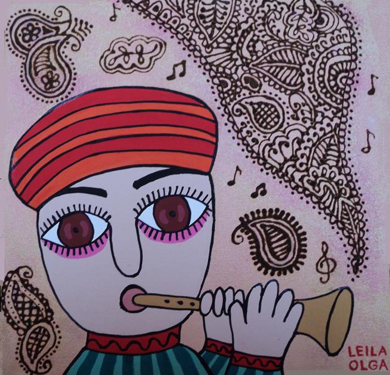 Olga  Leila Joueur de flûte