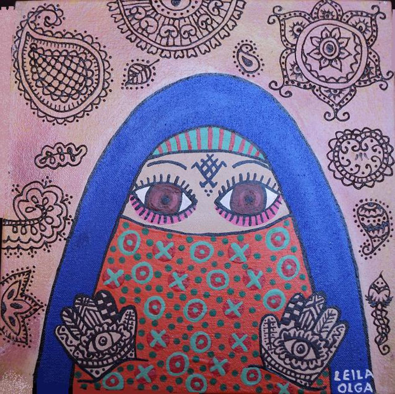Olga  Leila La femme au henné