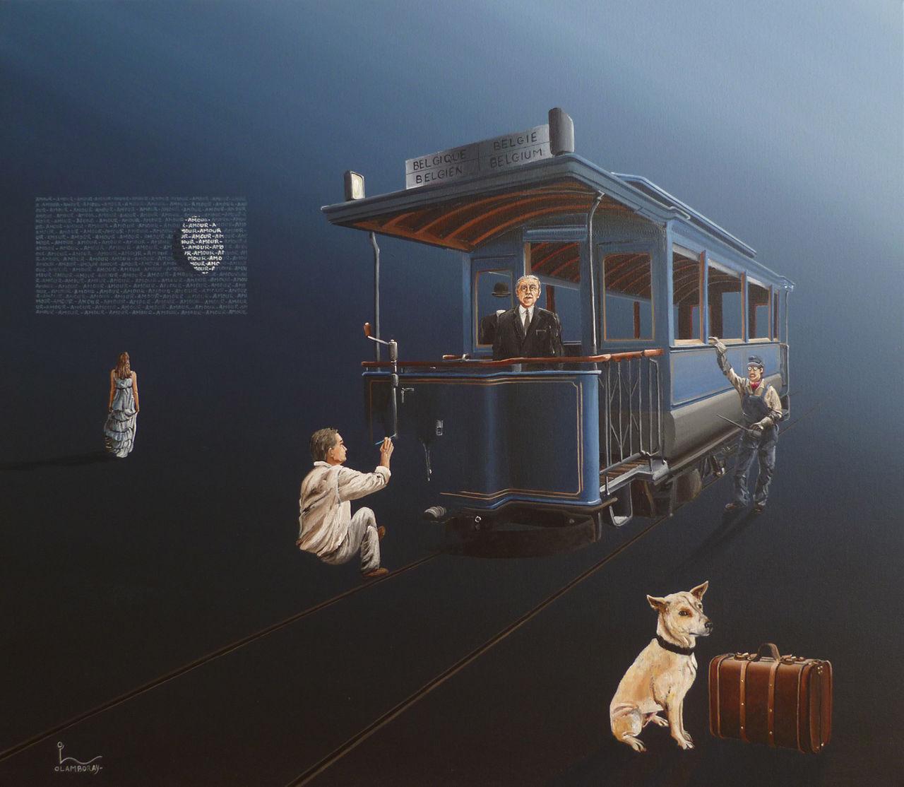"""olivier lamboray """" Hommage à René Magritte """""""