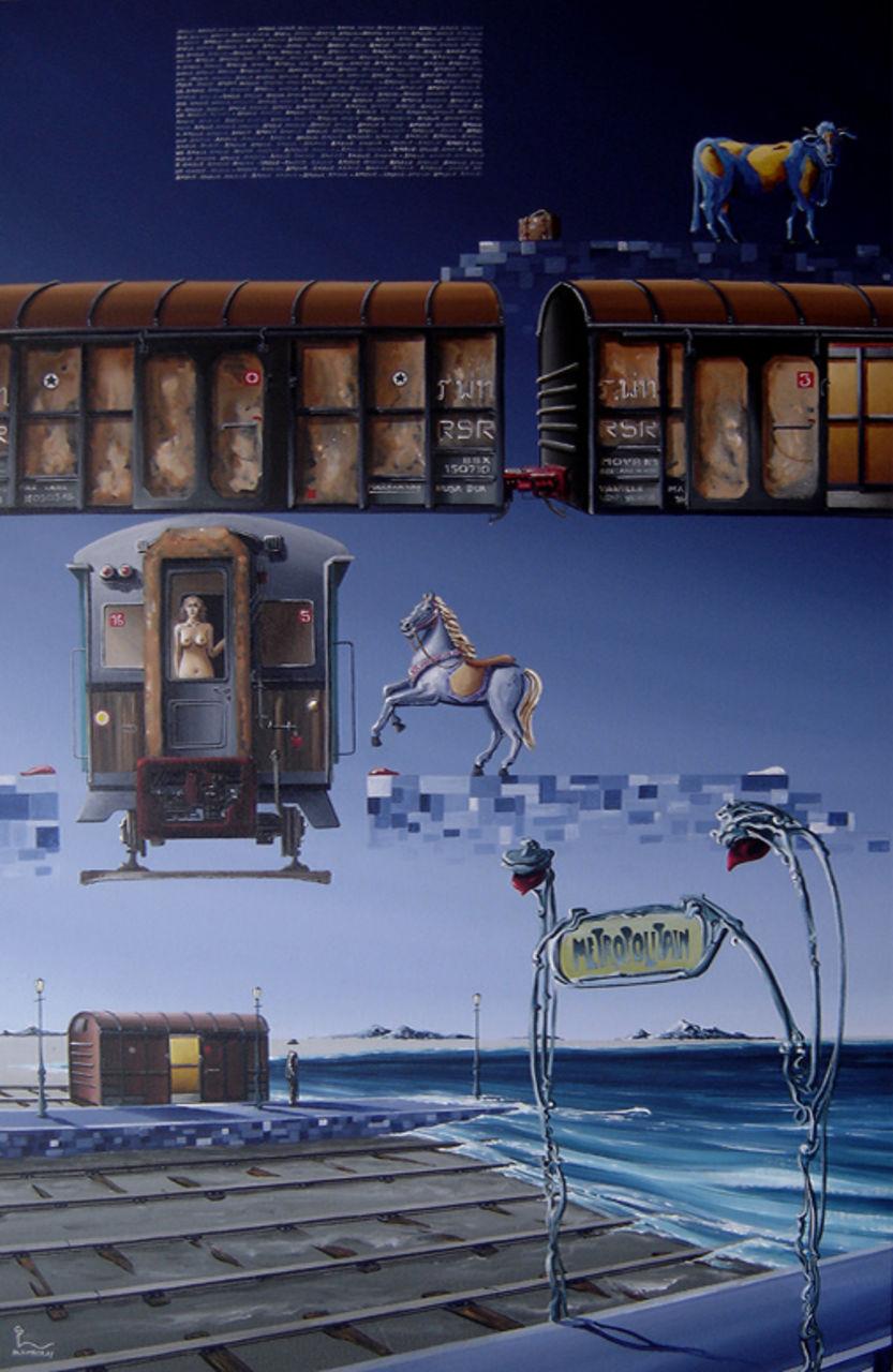 "olivier lamboray "" La Liberte du Reve "" 2010 - Belgian Surrealism by Olivier lamboray"