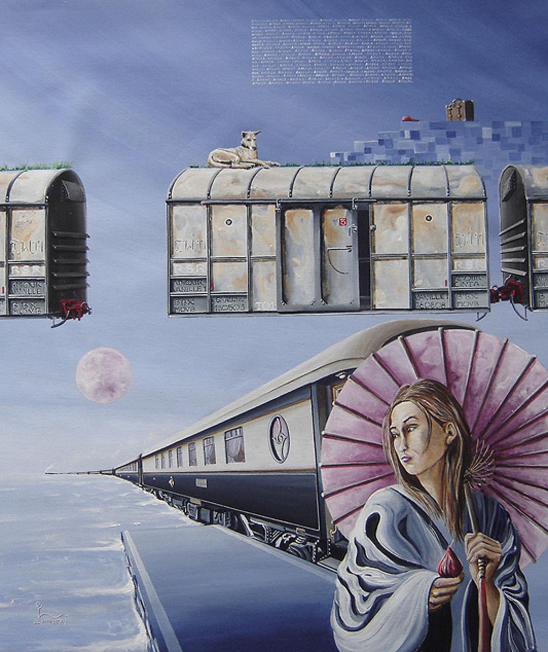 "olivier lamboray "" Leaving Alone"" - Belgian Surrealism by Olivier lamboray"