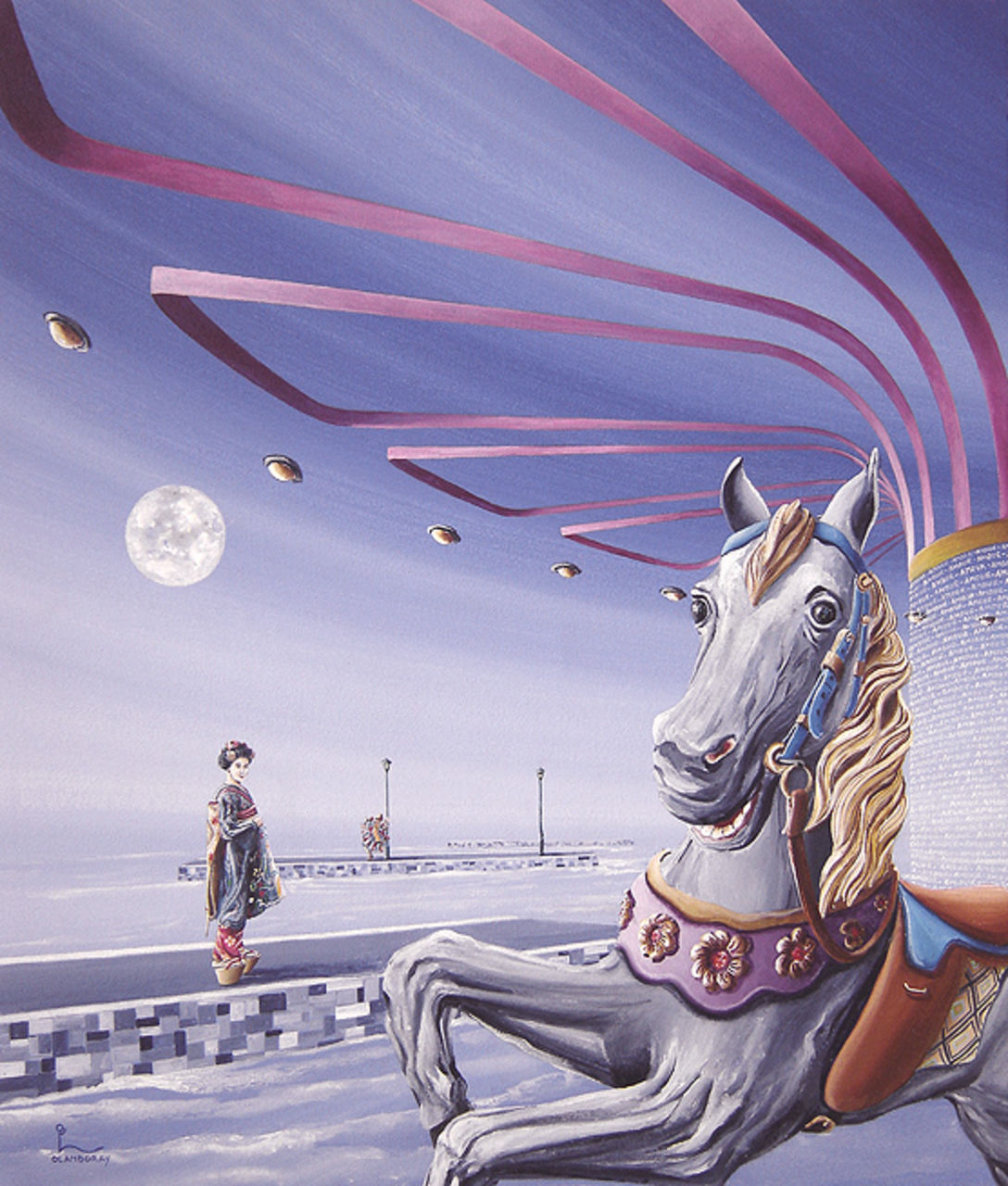 "olivier lamboray "" The Spin of Happiness ""  Belgian Surrealism by Olivier Lamboray"