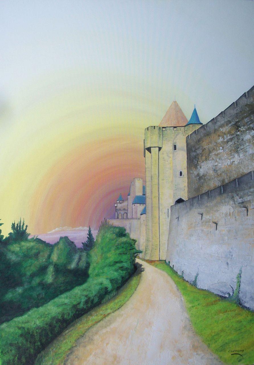 patrick contreras Lice de la cité de carcassonne (116X81)