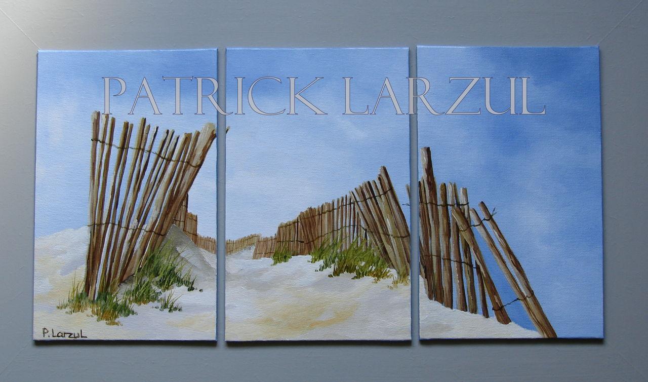 Patrick Larzul Chemin de ganivelles , de nos plages du pays Bigouden