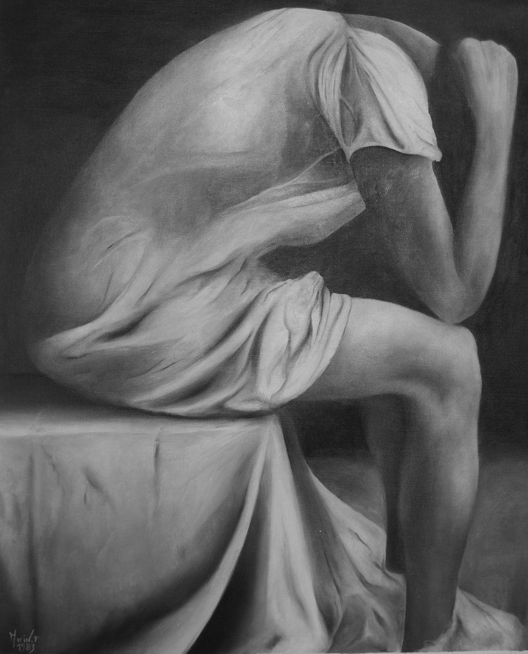 Patrick MARIN LA FEMME DANS SON BOUDOIR (1983) Vendu collection privée.