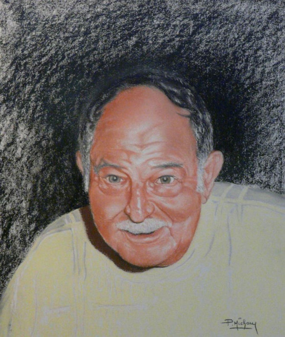 Patrick  MICHAU Portrait d'après photo d'un grand-père
