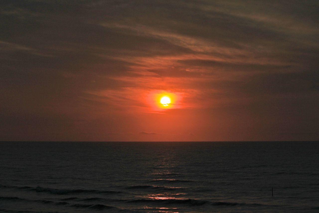 Philippe Wertz Coucher de soleil en Mer du Nord 1