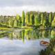 Preg - soir de primtemps sur un étang de bretagne