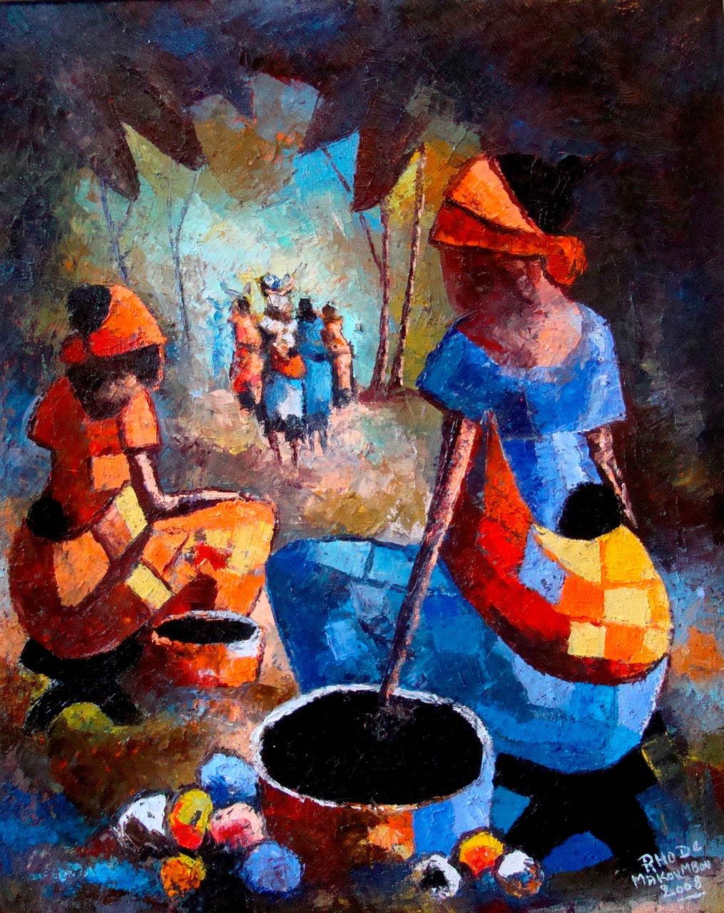 Rhode Bath-Schéba Makoumbou Peintures