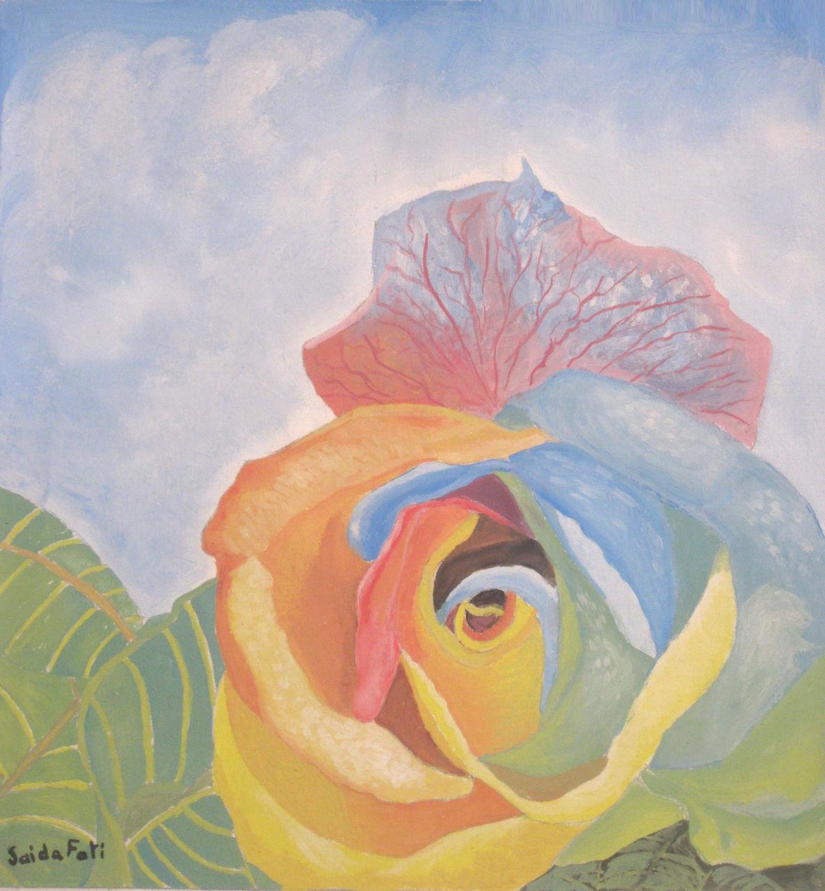Saida Fati  سعيدة فاتي flower muli colors