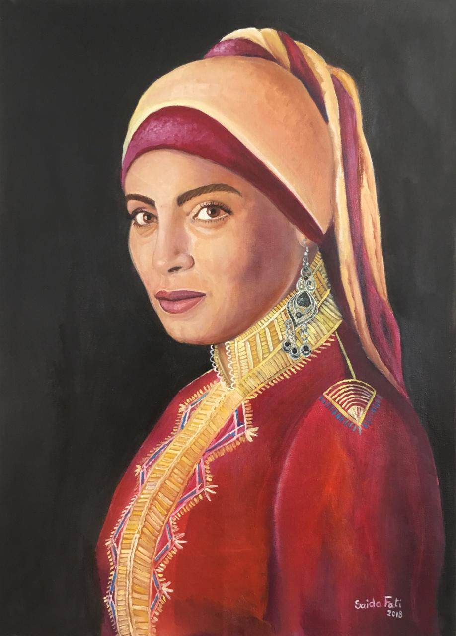 Saida Fati  سعيدة فاتي girl with a Silver earring  -saida fati