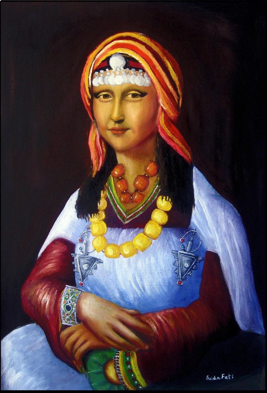 Saida Fati  سعيدة فاتي mona_lisa_marocaine_amazigh_berber_berbere