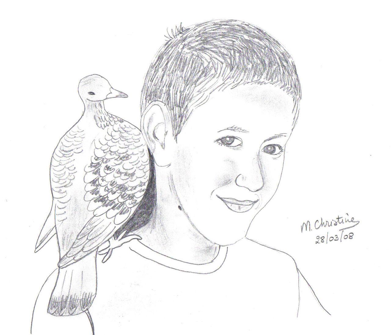 Schmucker Marie-Christine L'enfant et le pigeon
