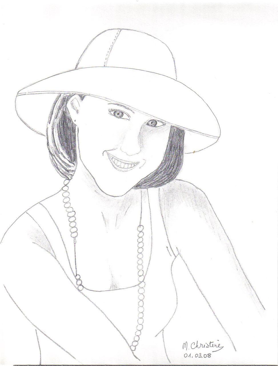 Schmucker Marie-Christine La dame au chapeau