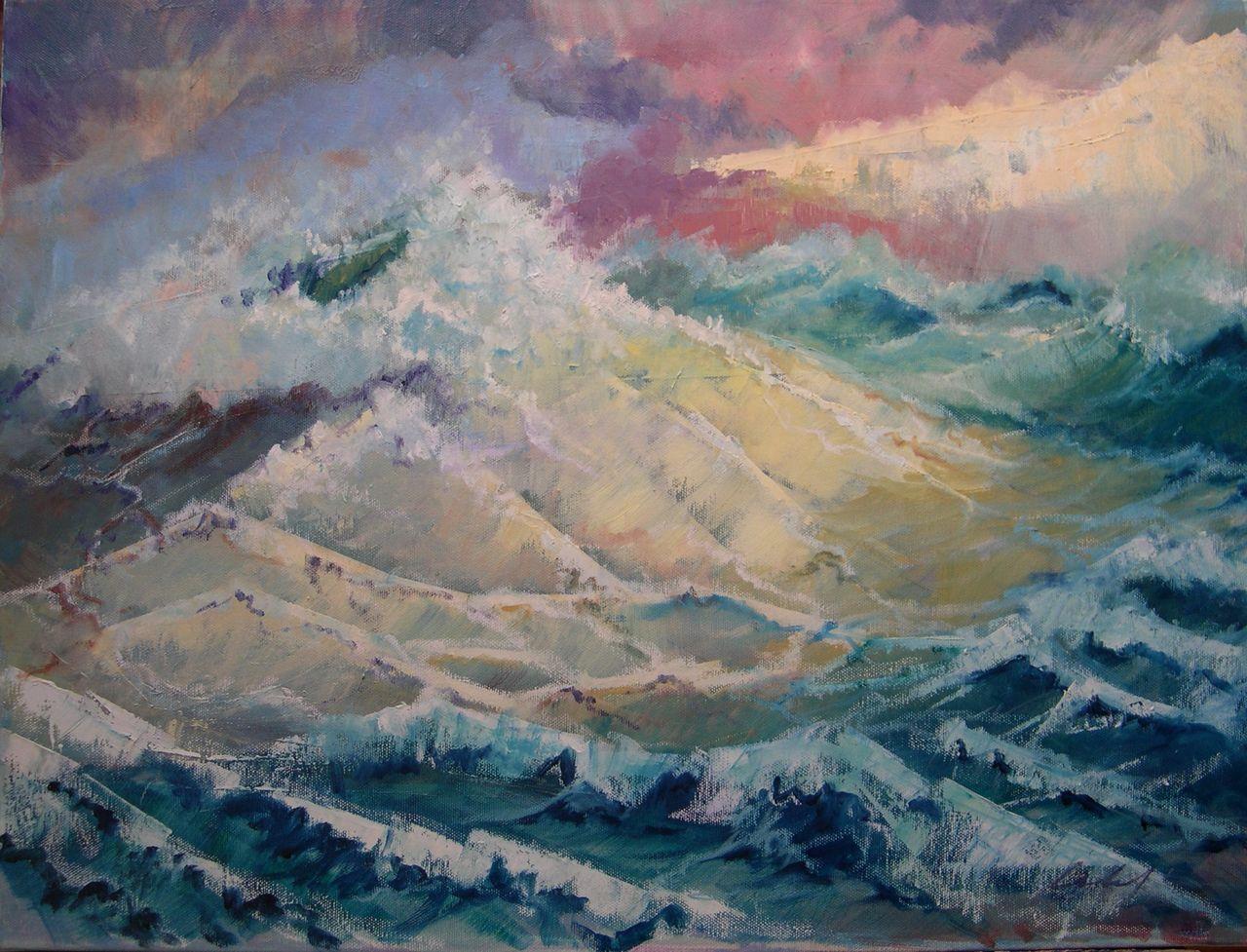 serge catel vagues serie mouvement et lumiere