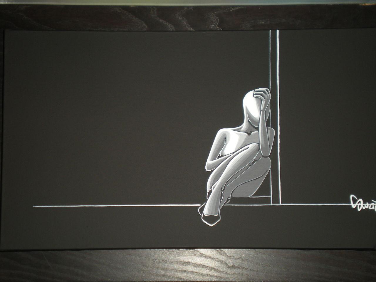 souad halima-rihoum dit SWAD en tant qu'artiste MOMENT DE SOLITUDE
