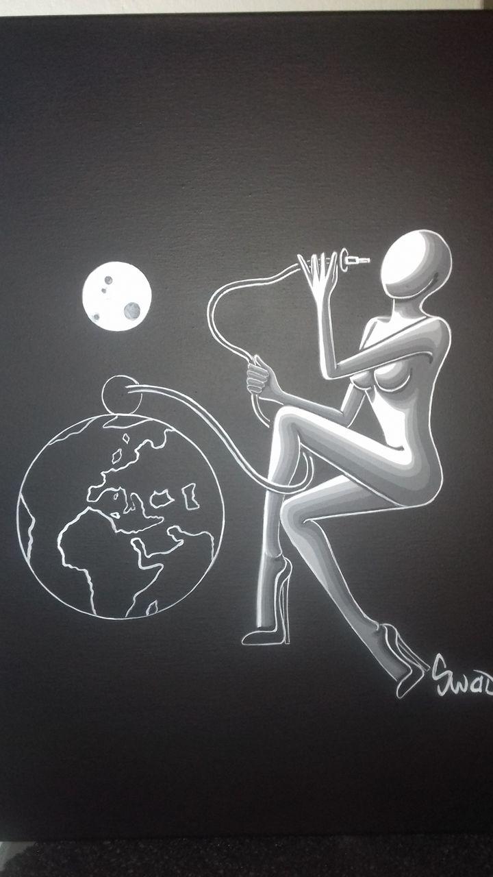 souad halima-rihoum dit SWAD en tant qu'artiste On a  fumé notre planète comme une chicha