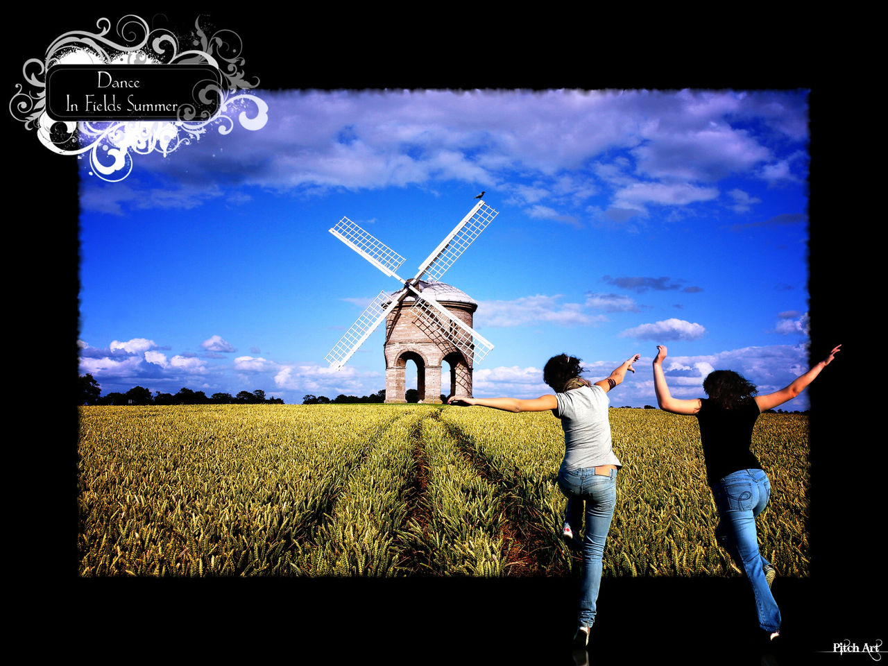 Studio Pitch Art Dance In Fields Summer (Color)