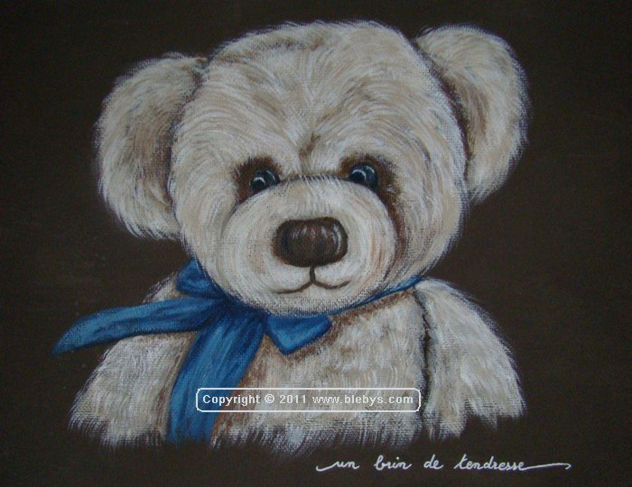 Sylviane MRL tableau3 OURS ruban bleu