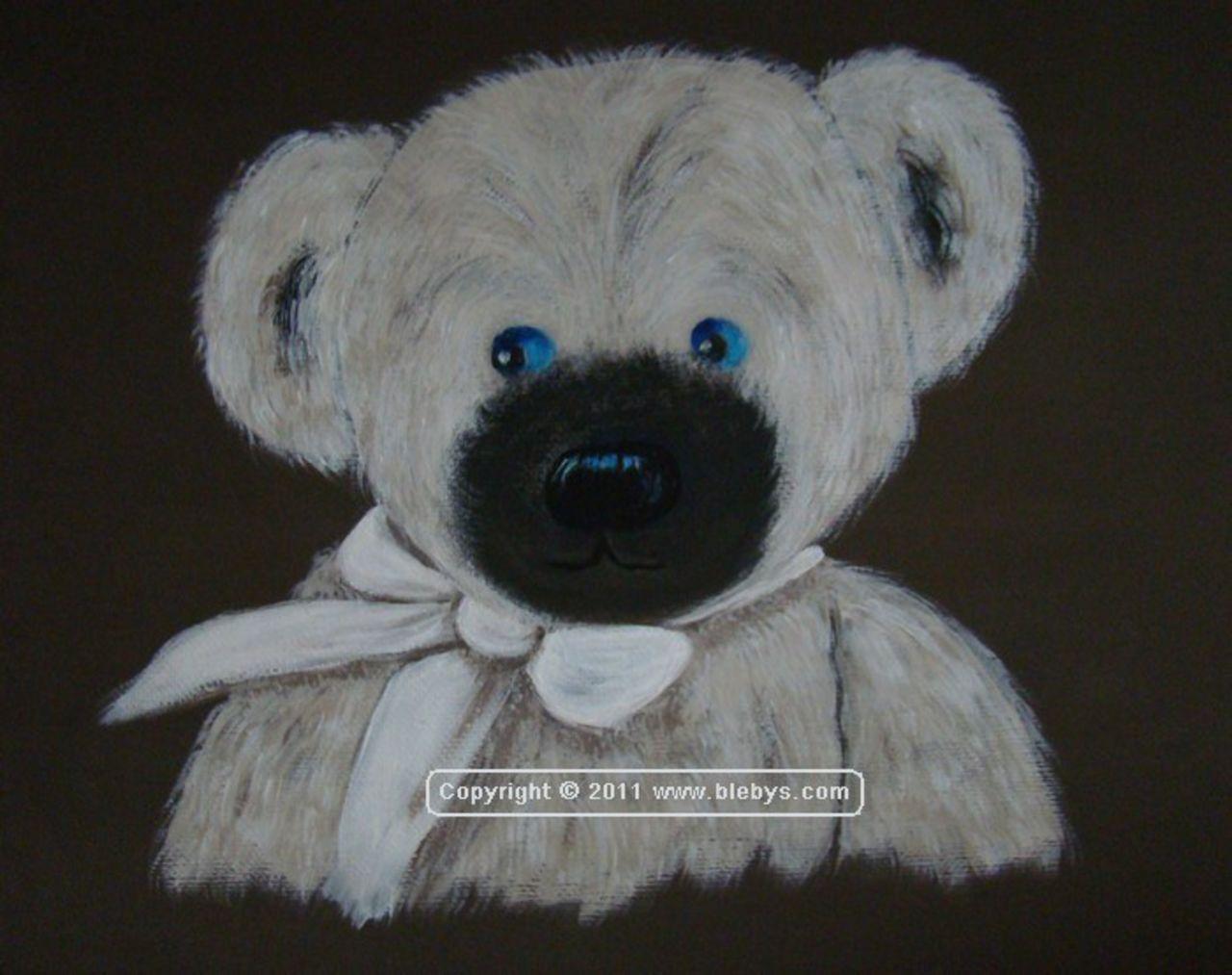 Sylviane MRL tableau4 OURS ruban blanc