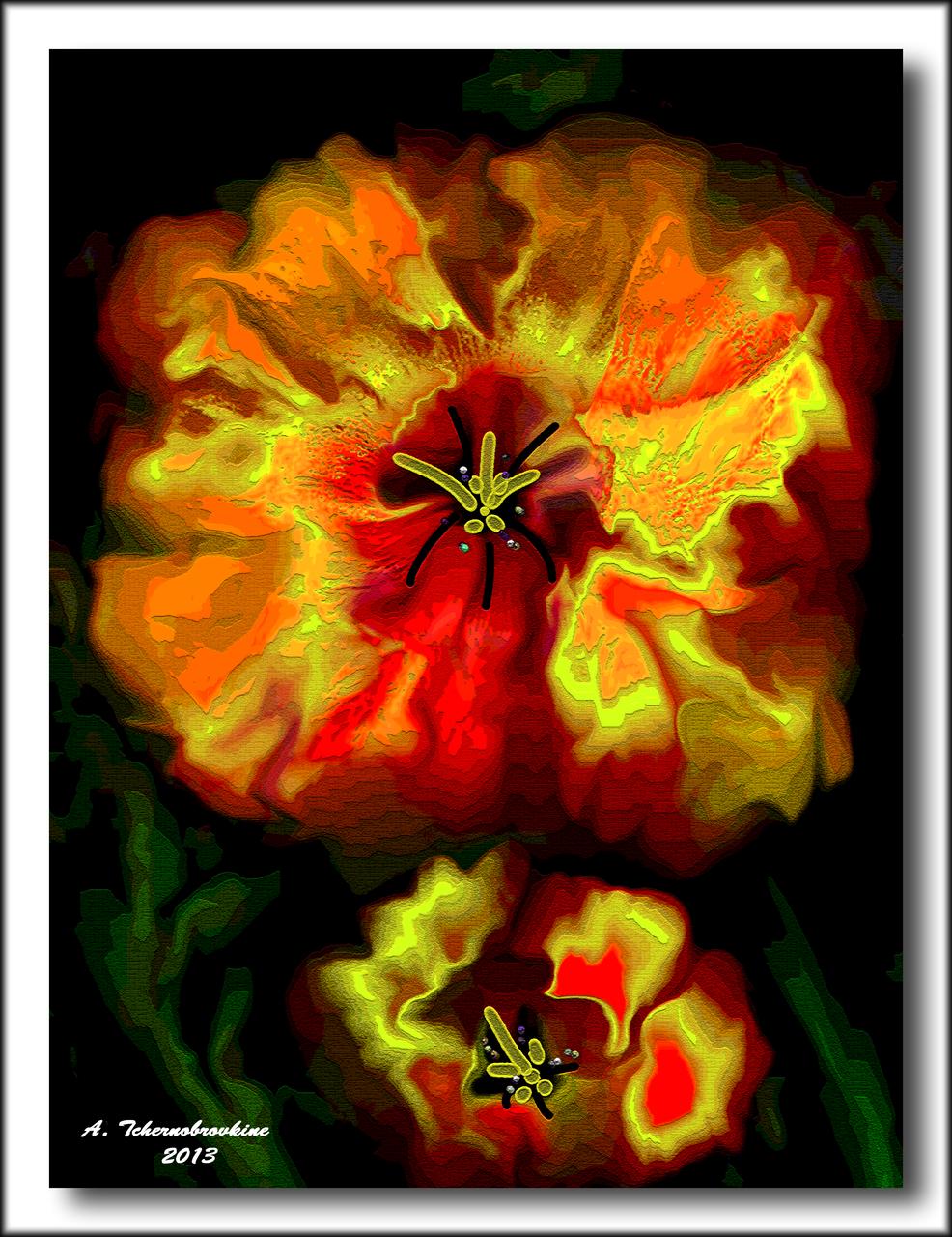 TCHERNOBROVKINE Alexandre Fleurs de Juin n° 5