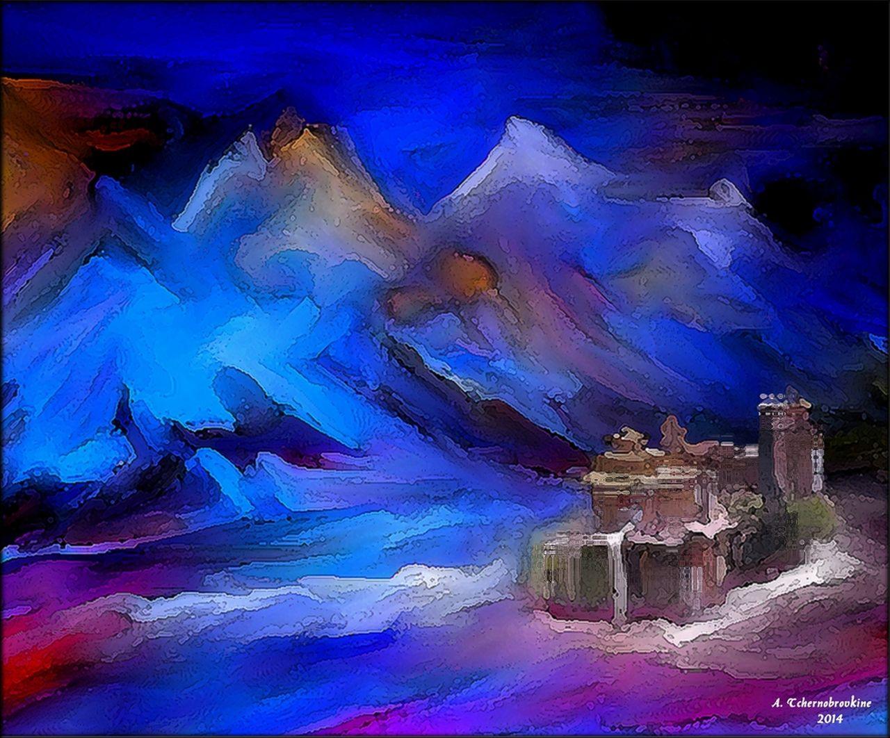 TCHERNOBROVKINE Alexandre Le Monastère en montagne