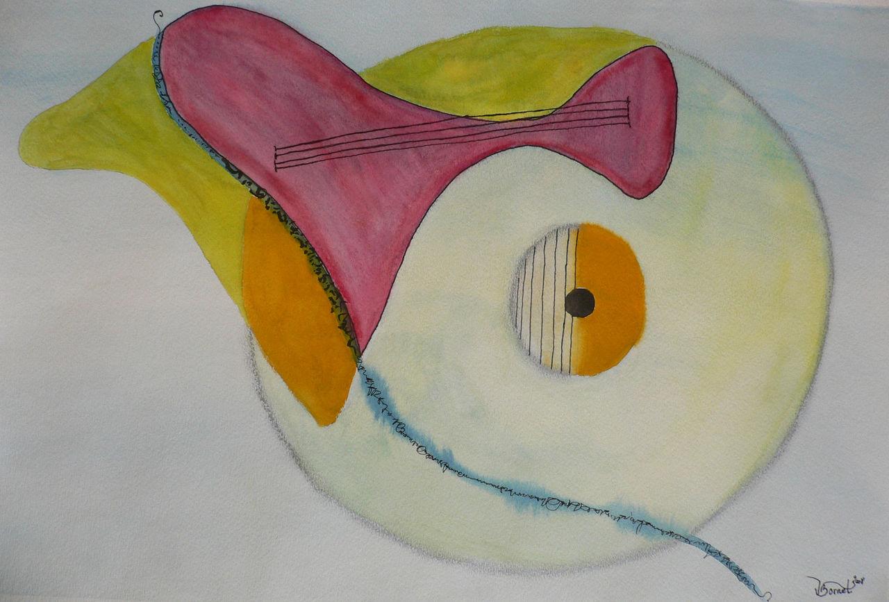 Valérie Bornet L'oeil à la guitare