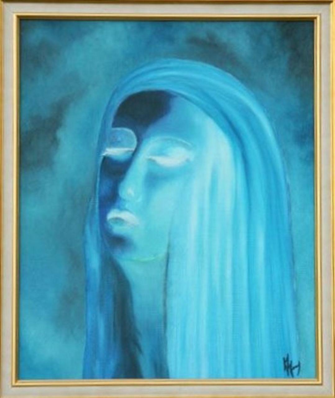 veronique AGUILLON la dame bleue - pensée