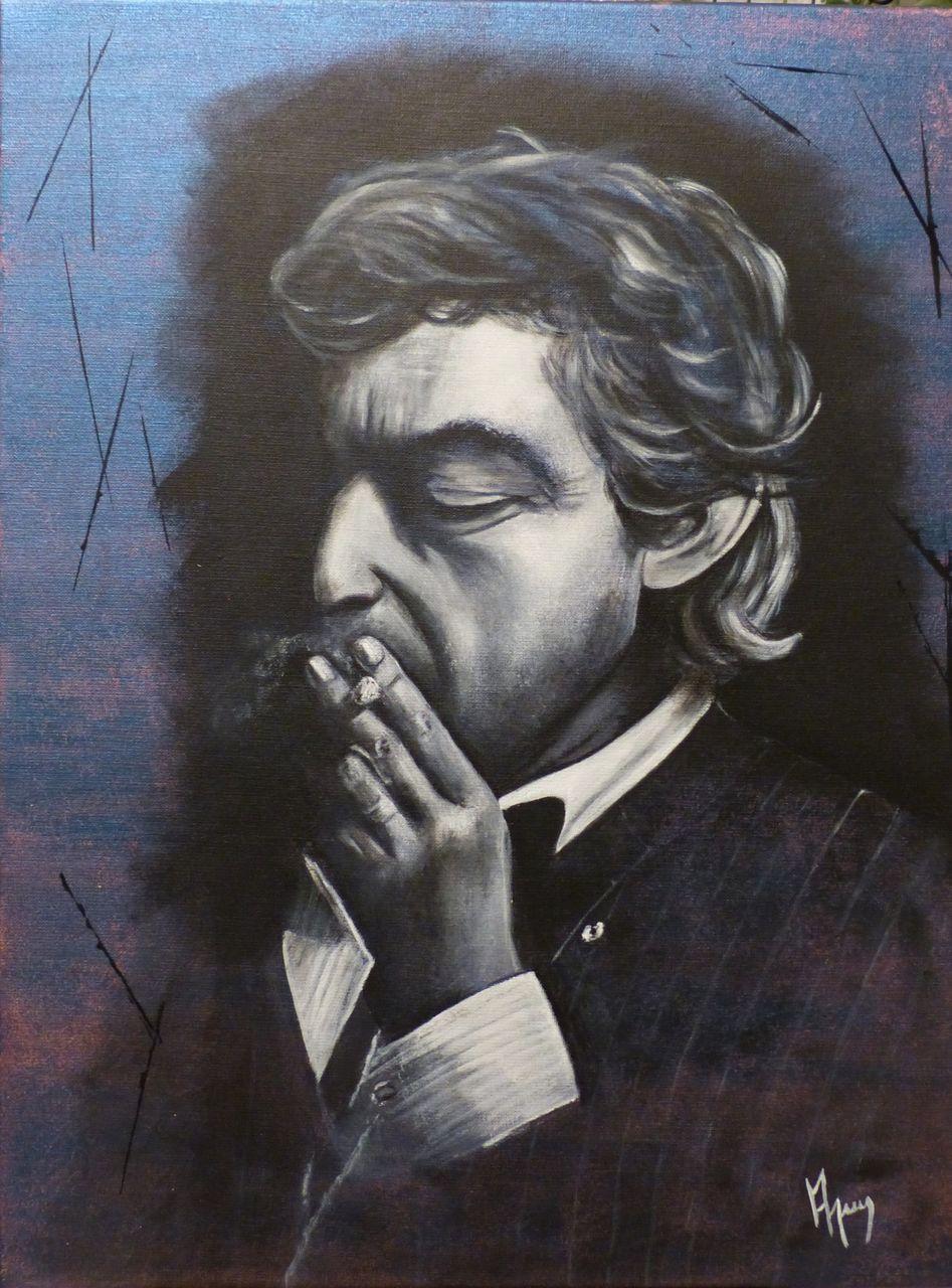 veronique AGUILLON Le fumeur de Gitane