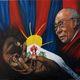 veronique AGUILLON - les 3 symboles Dalaï Lama
