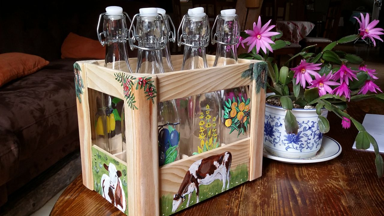 YolandedeComblesdeNayves casier de bouteilles en verre