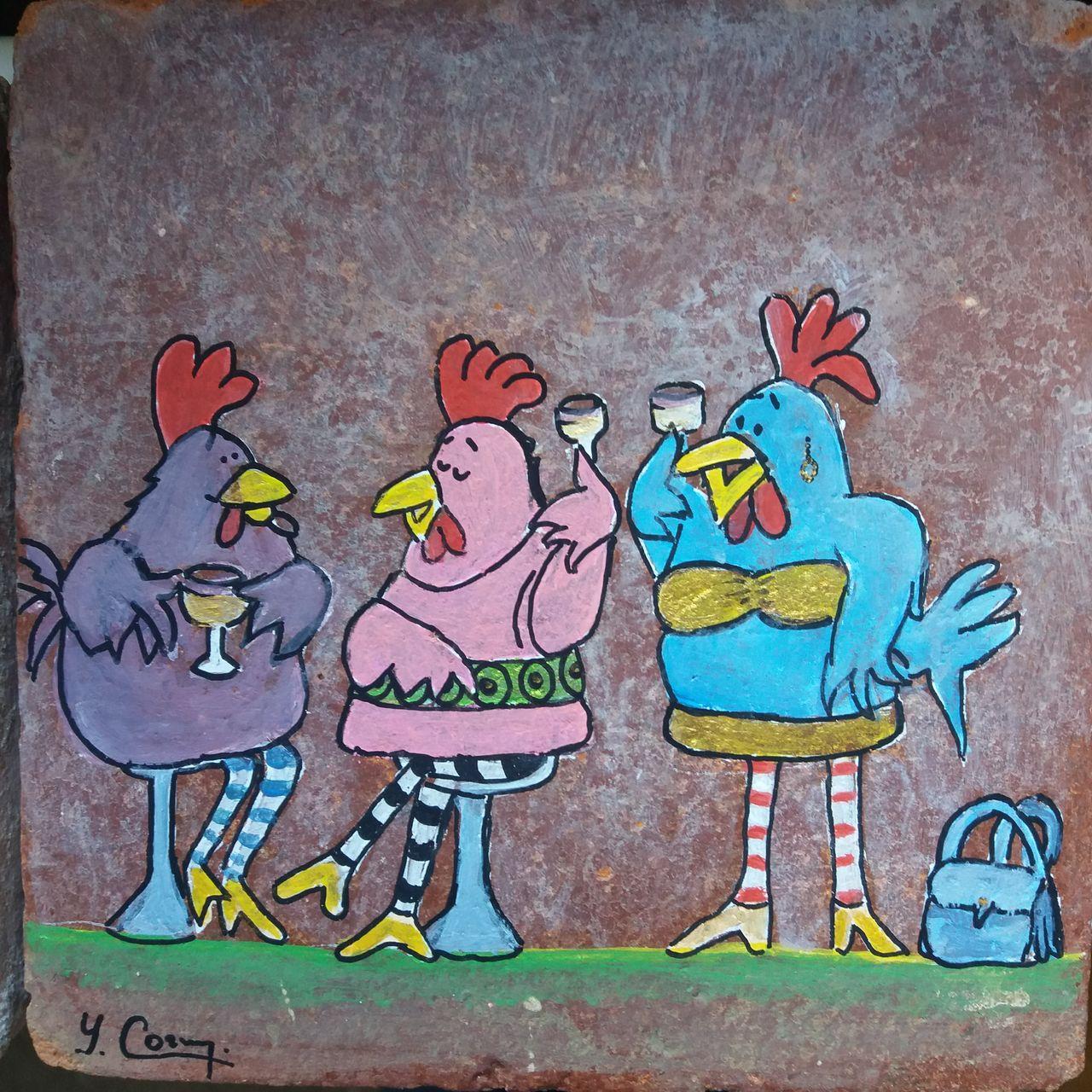 YolandedeComblesdeNayves trio de poulettes en voguette