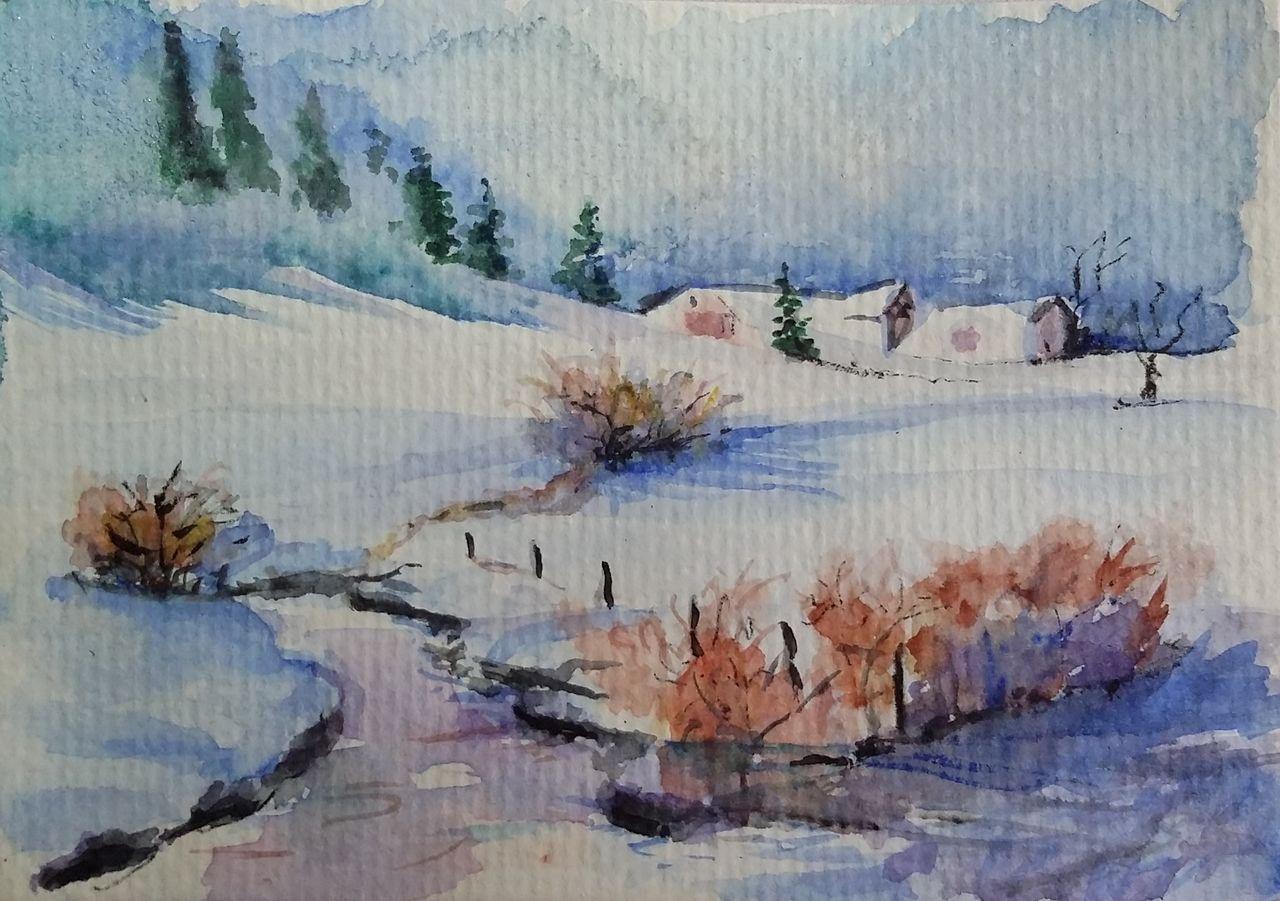 YolandedeComblesdeNayves 188-carte postale aquarelle
