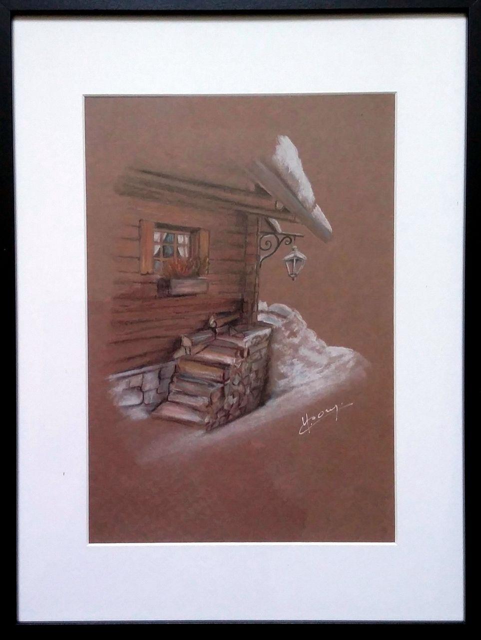 YolandedeComblesdeNayves 198-Le chalet en hiver